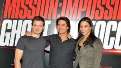 Tom Cruise y parte del elenco de 'Mision Imposible'.