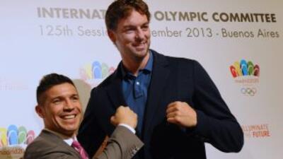 Sergio 'Maravilla' Martínez y Paul Gasol respaldan la cadidatura de Madrid.