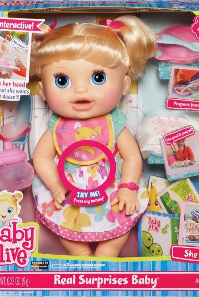 Baby Alive Real Surprises Doll, $44.