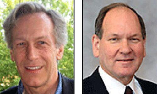 Los candidatos del Partido de la Constitución: Virgil Goode y Jim Clymer...