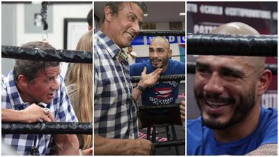 """""""Rocky Balboa"""" visita a Miguel Cotto"""