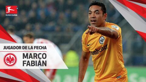 Marco Fabián sigue consechando reconocimientos con el Eintracht Frankfurt.