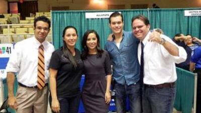 Talento de Univision 41 estuvo presente durante la conferencia sobre la...