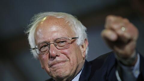 """La lucha continúa"", prometió Sanders a unos 5,0..."