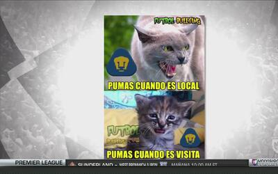 Tras la derrota ante el América, Pumas fue la victima de los memes de la...