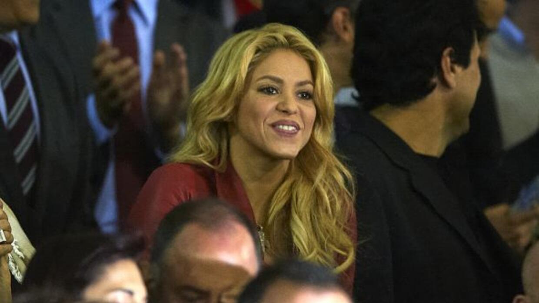 Shakira etrasó su presentación para poder disfrutar del partido del Barç...