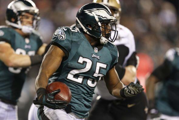 N°12 Otro corredor, el #25 de los Philadelphia Eagles, LeSean McCoy...
