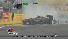 Mira el choque de Sergio Pérez en el Gran Premio de Hungría