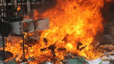 Escala la violencia en Guerrero en protestas por los 43 estudiantes