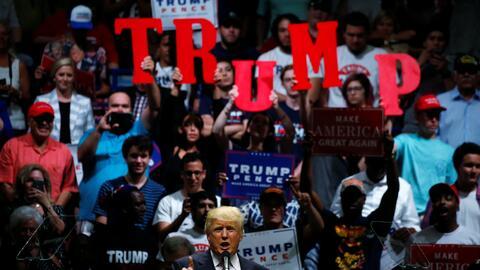 El candidato republicano, Donald Trump, durante un evento de campa&ntild...