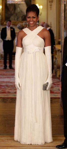 Uno de los mejores 'looks' de Michelle Obama es este que usó para cenar...