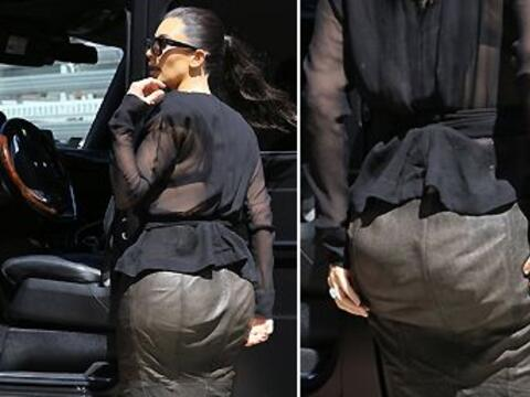 Kim Kardashian dejó ver su peor ángulo enfundada en una fa...