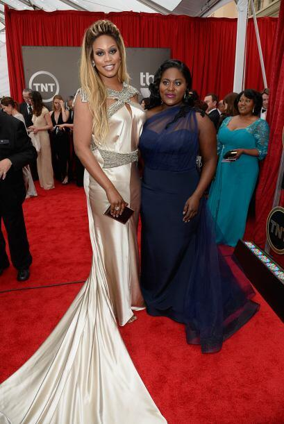 Directo desde 'Orange is the New Black', Laverne Cox y Danielle Brooks.