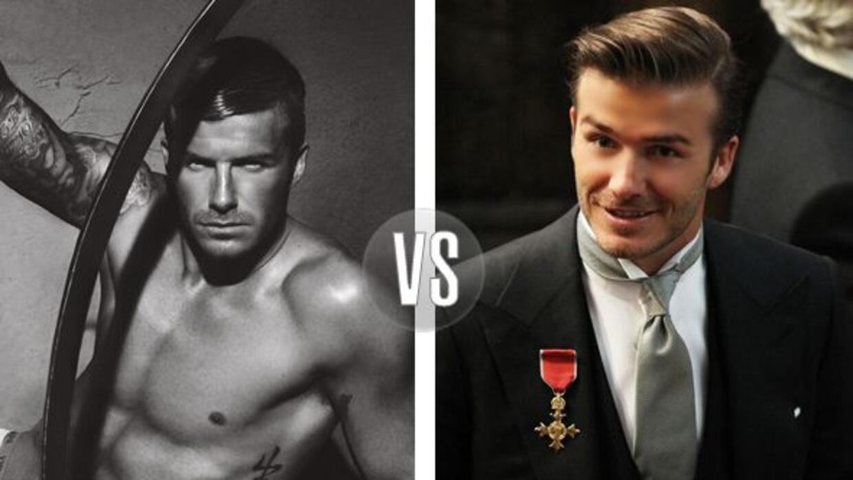 David Beckham es sexi con o sin ropa.