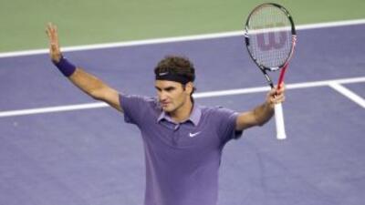 El tenista Suizo jugó un excelente partido.