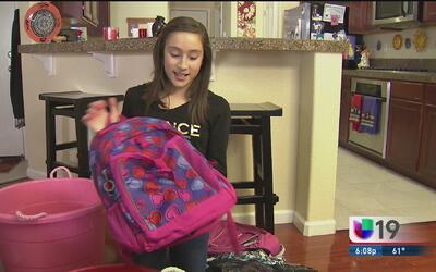 Niña de quinto grado ayuda a los desamparados en el día de San Valentín