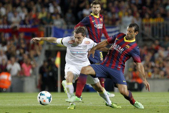 Barcelona fue muy superior al Santos.