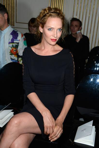 Una de las afortunadas en ver modelar a Naomi Campbell fue Uma Thurman e...