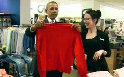 El Presidente Obama se dio un respiro y se fue de compras
