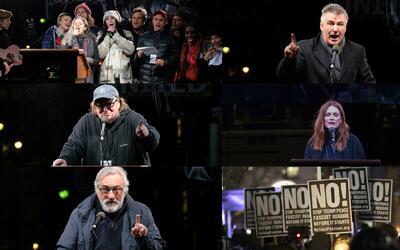 Encabezados por Bill de Blasio, artistas y miles de neoyorquinos lanzan...
