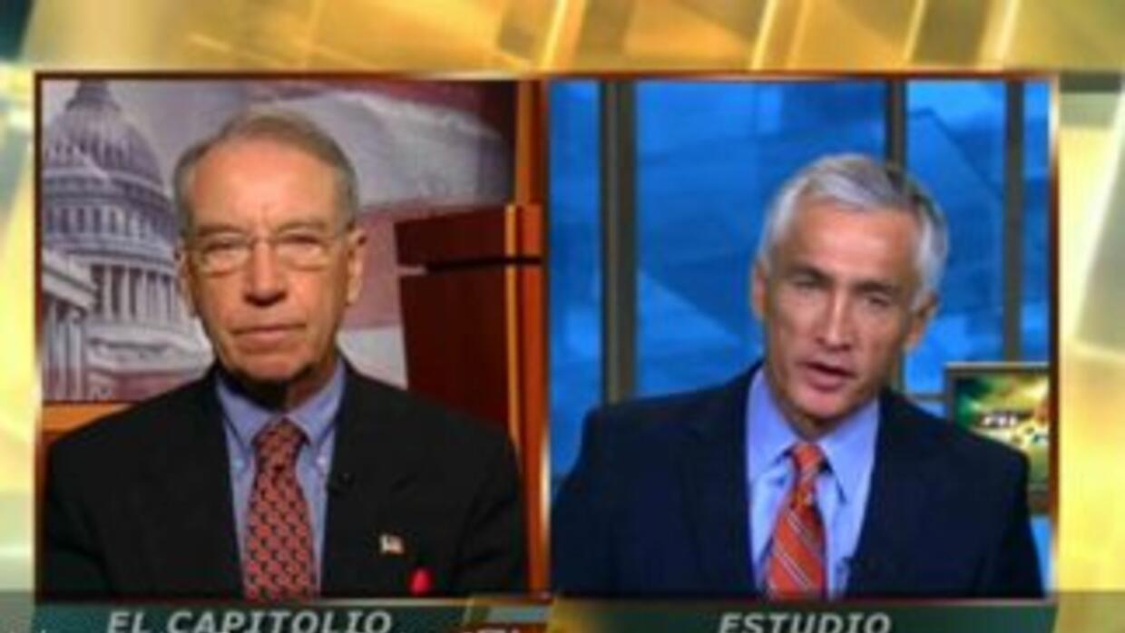 Senator Chuck Grassley talked to Jorge Ramos.