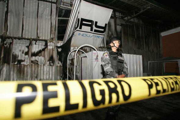 19 abril 2008.- Un incendio durante un concierto de rock gótico e...