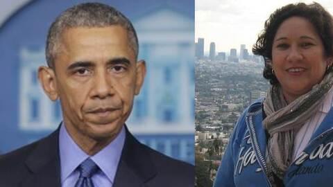 El presidente Barack Obama y la activista indocumentada Rosa Mirna Cruz