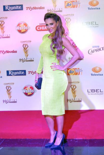 Aquí durante los Premios TvyNovelas. Mira aquí los videos más chismosos.