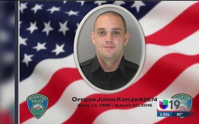 Oficial de Stockton muerto en accidente