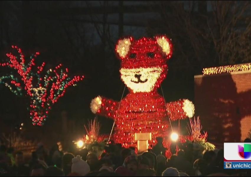 Encendieron las luces en zoo de Lincoln Park