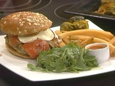 Una hamburguesa gourmet
