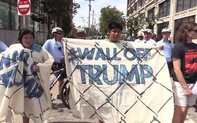 Helada recepcion para Trump en Filadelfia