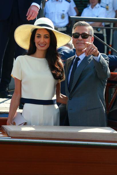 La pareja se casó en Venecia en septiembre.