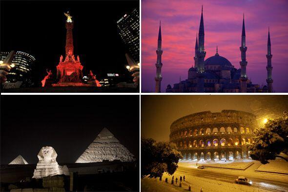 Estos son sólo algunos de los monumentos alrededor del mundo que apagará...