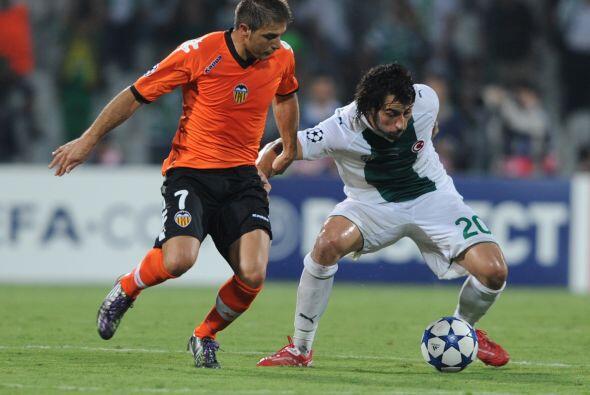 Valencia fue a Turquía para jugar ante el debutante Bursaspor.