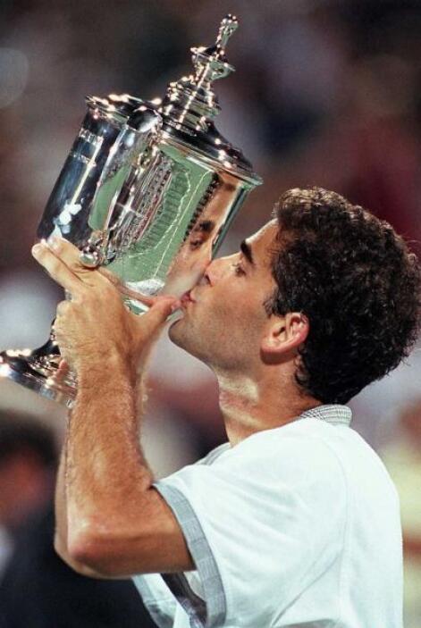 El ex tenista estadounidense, Pete Sampras, con 14 títulos de Grand Slam.