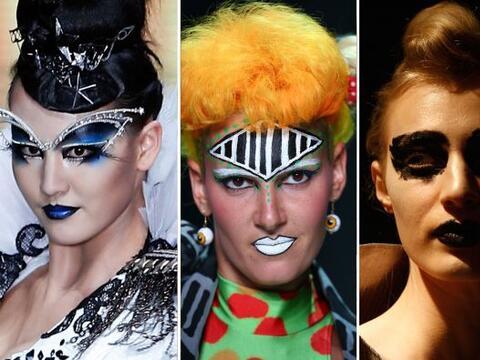 Este 'makeup' es tan extravagante que jamás podríamos usarlo para el día...
