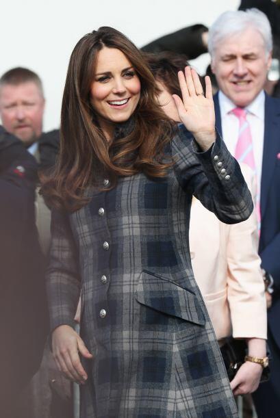Los británicos están encantados con Kate Middleton y su embarazo.