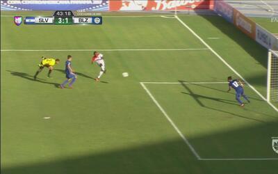Con un tremendo golazo Belice marcó el 1-3 ante El Salvador antes del de...