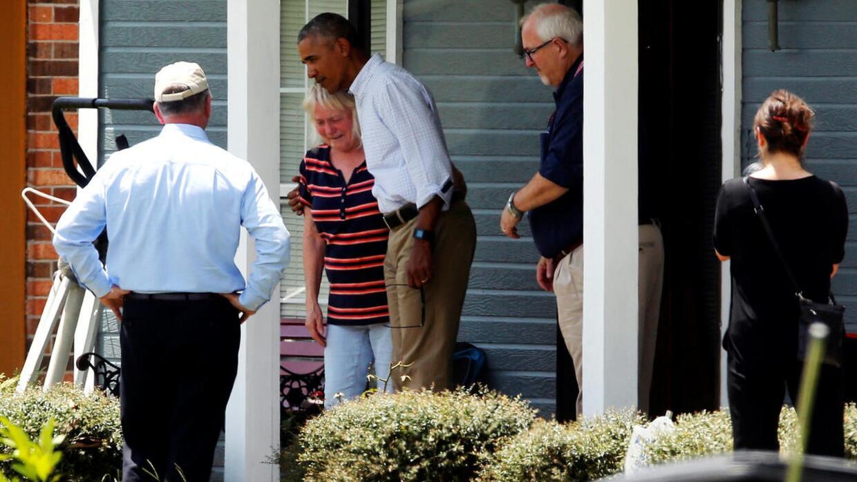 """Obama, en Louisiana: """"Necesito que el pueblo estadounidense se quede enf..."""