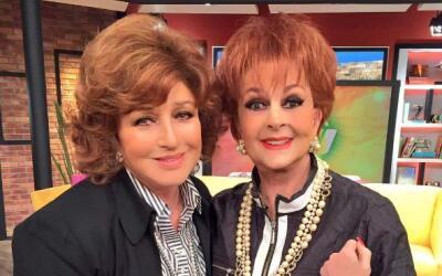 Guapísimas Angélica María y Talina Fernández.