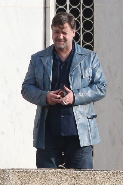 """Russell Crowe está en el set de la película """"The Nice Guys""""."""