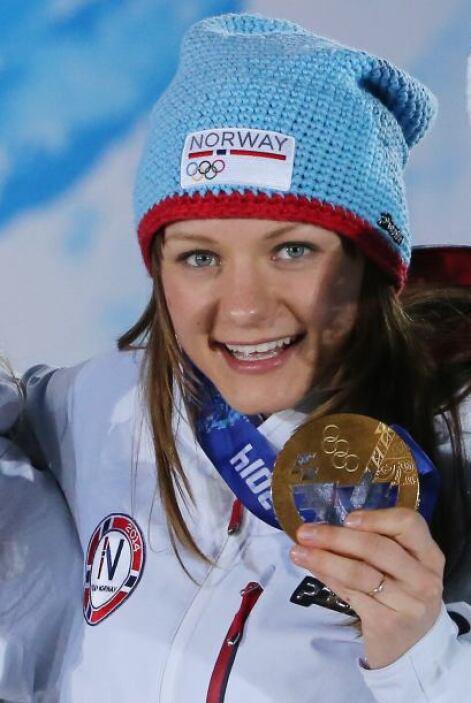 Maiken Caspersen Falla es noruega y tiene 23 años. Ganó oro en la prueba...