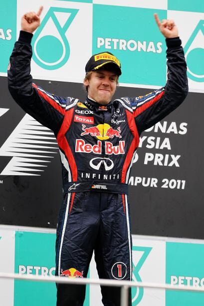 A pesar de la alegría, Vettel reconoció que todavía queda mucho camino p...