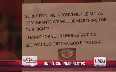 Muchos se unen a 'Un Día Sin Inmigrantes'
