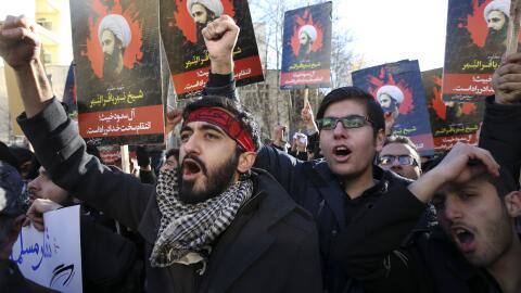 Protestas en Teherán.