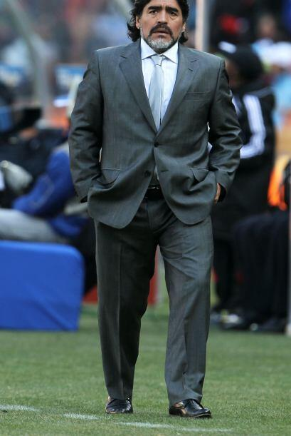 Maradona llegó al Mundial Sudáfrica 2010 bajo muchas críticas, pero con...