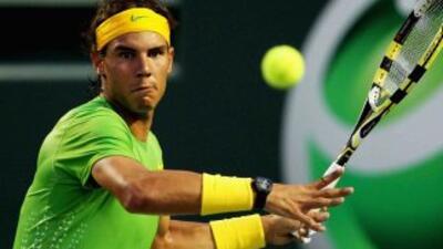 El español Rafael Nadal, número uno del mundo venció en la ronda de cuar...