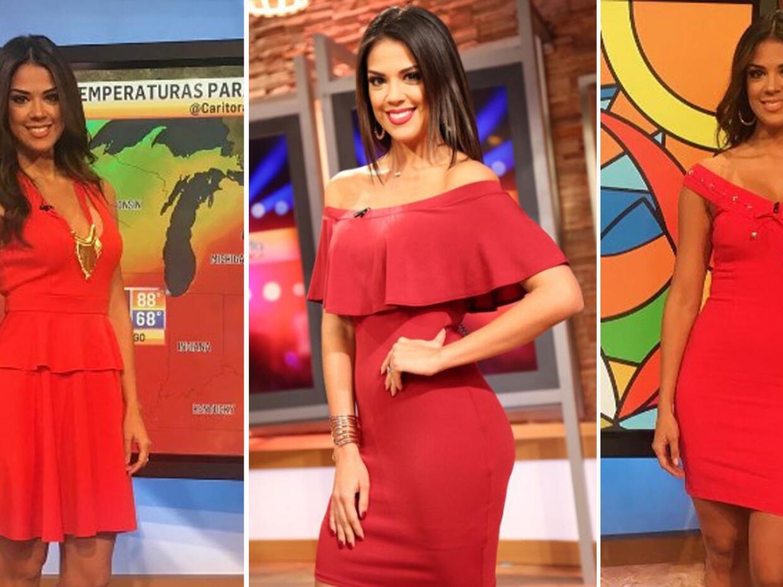 Carolina Ramirez outfit rojo Despierta América