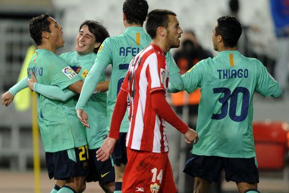 Se podía ver en los jugadores del Almería la desilusión.